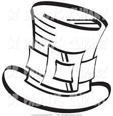 top hat outline clipart clipart panda free clipart images