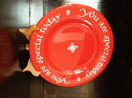 plate you are special the you are special plate a family birthday tradition