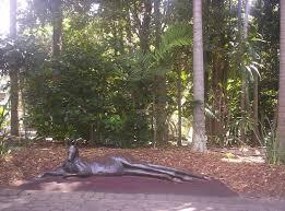 City Botanic Gardens File Kangaroo Sculpture At Brisbane City Botanic Gardens Jpg