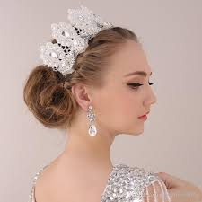hair ornaments 2016 princess crown hair ornaments handmade lace pearls