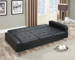 Convertible Sofa Bed F6830 Black Convertible Sofa Bed By Poundex