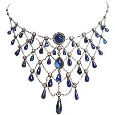 sapphire jewelry necklace images Gorgeous edwardian sapphire and diamond necklace for sale at 1stdibs jpg