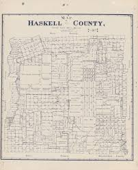 haskell map map of haskell county the portal to history