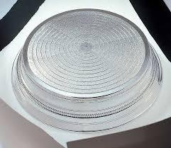 napier single tier round cake stand 355mm 14 u0027 u0027 silver