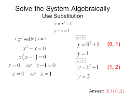 solving systems of linear and quadratic equations ppt video