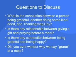 a graceful thanksgiving what is the connection between grace