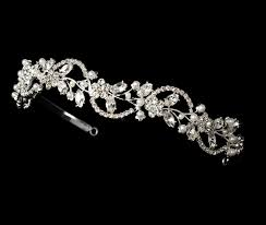 silver headband pearl wedding floral silver headband hp392s
