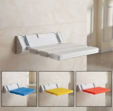 Bathroom Shower Bench Wall Mounted Foldable Stool Bathroom Shower Seat Folding Spa Bench