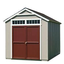 Overhead Doors For Sheds by Handy Home Products Installed Majestic 8 Ft X 12 Ft Wood Storage