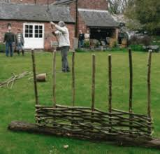 hazel hurdle making a one day fence making course craft