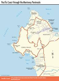 Map Of Florence Oregon by Pacific Coast Route Sights In Pacific Grove California Road