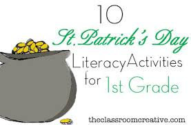 st patrick u0027s day literacy activities for first grade