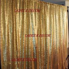 Gold Metallic Curtains Shop Sequin Curtain On Wanelo
