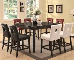Square Dining Room Tables For 8 Dining Room Simple Round Wooden Tall Dining Table For Dining Room
