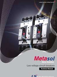 metasol mccb elcb technical manual e switch transformer