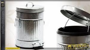 poubelle cuisine retro poubelle de 5 litres style rétro en métal imitation zinc ancien