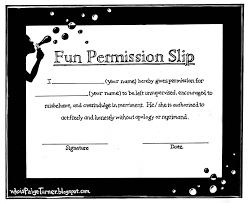 field trip permission slip template
