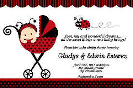 ladybug baby shower ladybug baby shower invitations u print 24hr service 4x6 or 5x7 ebay