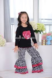 ruffle girl yiwu pink heart and ruffle girl set 2pcs kids clothes 1 6age
