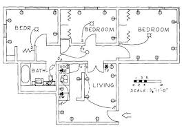 Floor Plan Of An Apartment Electrical Drawing For Architectural Plans