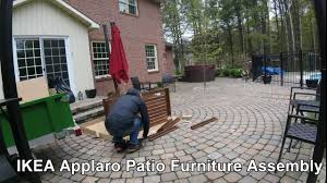 Patio Furniture Assembly Ikea Applaro Assembly Time Lapse Youtube