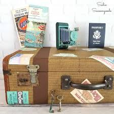 Alabama Traveling Bags images Creating diy vintage luggage decor with an antique suitcase jpg