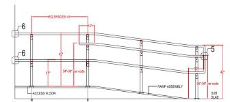 What Is Standard Handrail Height Custom Ramps U0026 Railings Raised Access Floors Access Floor