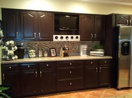 How To Paint Kitchen Cabinets Dark Brown Painted Kitchen Cabinets Vs Stained Lakecountrykeys Com