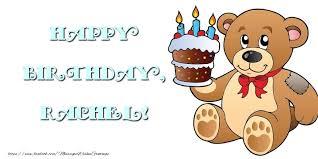happy birthday rachel greetings cards for kids for rachel