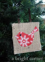 a bright corner burlap ornaments tutorial