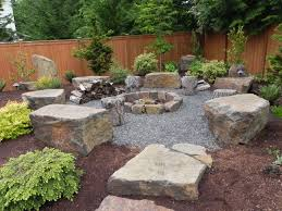 Landscape Architecture Ideas For Backyard Snohomish Rock Firepit Sublime Garden Design Landscape Design