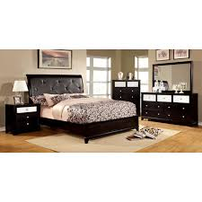 furniture of america bryant bedroom set in black local furniture