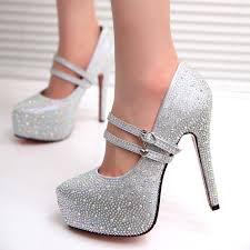silver wedding shoes wedges gaorui high heels prom wedding shoes platforms