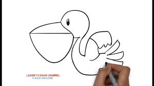 coloring page lovely how to draw pelican maxresdefault coloring