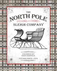 north pole sleigh company printable christmas creations