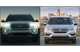 compare honda pilot and ford explorer 2017 ford explorer vs 2017 honda pilot to u s
