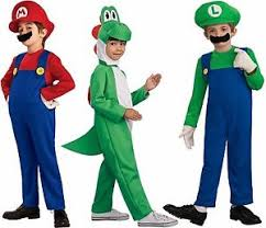 mario luigi yoshi costume kids super mario bros brothers