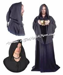 ritual cloak ancient circle black druid robe for renaissance choir pagan
