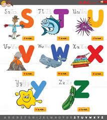 imagenes educativas animadas alfabeto de dibujos animados educativos para niños arte vectorial
