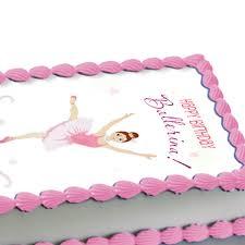 Ballerina Decorations Ballerina Edible Image Cake Decoration Caucasian At Dollar Carousel