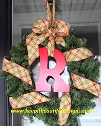 keep it beautiful fabulous friday christmas monogram wreath diy