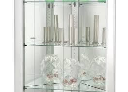 680601 howard miller silver finish mirrored corner curio cabinet