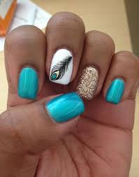 50 easy nail designs feather nail art feather nails and designs