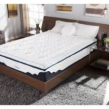 Gel Mattress Topper Bedroom Gel Mattress Topper With Brown Carpet And White Curtain