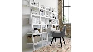 sawyer white leaning desk crate and barrel with regard to leaning