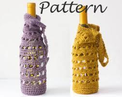 pattern for wine bottle holder crochet wine cozy etsy