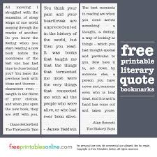 printable history quotes printable literary quotes bookmarks free printables online