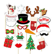 christmas photo booth props 19pcs photo booth props christmas snowman gloves bell boots props