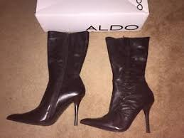 aldo s boots uk aldo brown 100 leather knee high stiletto boots uk size 7 eu