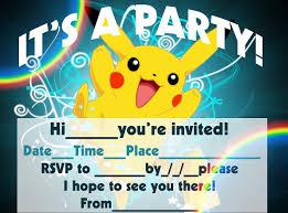 Birthday Invitation E Card Pokemon Birthday Card U2013 Gangcraft Net